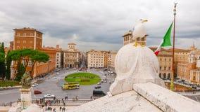 Взгляд над венецианским квадратом в Риме - аркаде Venezia Стоковые Изображения