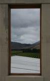 Взгляд над виноградниками от винодельни Стоковое Фото