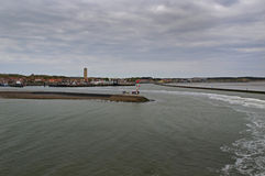 Взгляд на гавани Terschelling Стоковые Изображения RF
