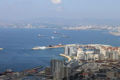 Взгляд на Гибралтаре Стоковое Изображение