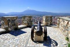 Взгляд на городе Prizren в Косове, от крепости стоковые изображения rf