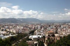 Город Малаги, Андалусии Испании Стоковые Изображения RF