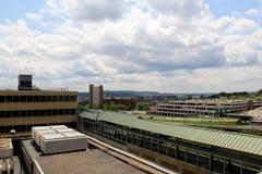 Взгляд над городом, увиденным от площади Имперского штата, Albany, Нью-Йорк, 2015 Стоковые Фотографии RF