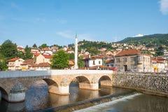Взгляд на городском пейзаже Сараева, Босния и Герцеговина Стоковая Фотография RF