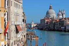 Взгляд на грандиозном канале в Венеции стоковое изображение rf