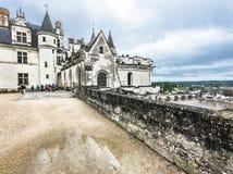 Взгляд на замке Amboise стоковые фотографии rf
