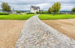 Взгляд на замке Amboise стоковое изображение