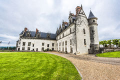 Взгляд на замке Amboise стоковое фото