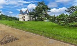 Взгляд на замке Chaumont стоковое фото rf