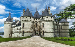 Взгляд на замке Chaumont стоковые изображения