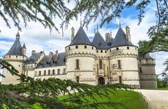 Взгляд на замке Chaumont стоковая фотография rf