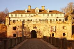 Взгляд на замке Pyrmont Более низкая Саксония, Германия - 31 12 2016 Стоковое Изображение