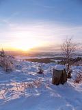 Взгляд на заходе солнца Стоковое фото RF