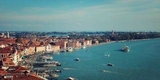 Взгляд на заливе Венеции от колокольни собора Флоренса Стоковое фото RF