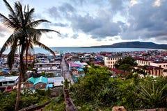 Взгляд над заливом Baracoa/Кубы Стоковые Фото