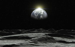 Взгляд на земле Стоковое Изображение RF
