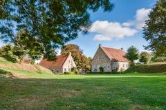 Взгляд на исторической крепости Bourtange, Groningen Стоковые Фотографии RF