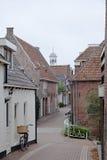 Взгляд на историческом городке Dokkum, Нидерландов Стоковое Фото