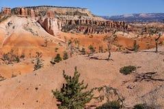 Взгляд над каньоном Bryce стоковая фотография rf