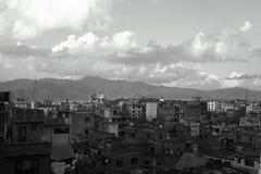 Взгляд над Катманду, Непалом Стоковые Изображения RF