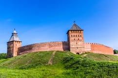 Взгляд на Кремле в Veliky Новгороде Стоковые Изображения