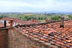 Взгляд на крышах домов Стоковое фото RF