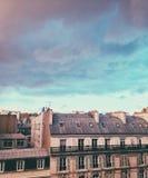 Взгляд на крышах Парижа Стоковая Фотография RF