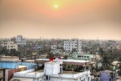 Взгляд над Кхулной в Бангладеше стоковые изображения rf