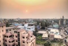Взгляд над Кхулной в Бангладеше стоковое фото rf