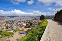 Взгляд над Ла Paz, Боливией стоковые изображения rf