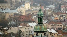 Взгляд на Львове, Украине сток-видео