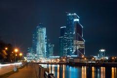 Взгляд на международном деловом центре города Москвы Стоковая Фотография RF