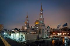 Взгляд на мечети собора Москвы на заходе солнца Стоковая Фотография