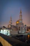 Взгляд на мечети собора Москвы на заходе солнца Стоковые Изображения RF