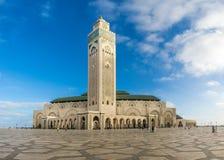Взгляд на мечети Hasan II в Касабланке - Марокко Стоковое фото RF