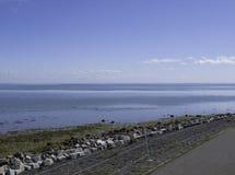 Взгляд над морем Wadden Стоковые Фото