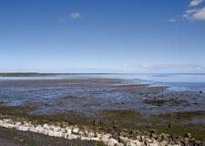 Взгляд над морем Wadden Стоковые Изображения
