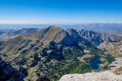 Взгляд над национальным парком Durmitor, Черногорией Стоковое Изображение RF