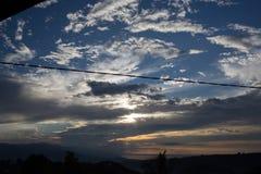 Взгляд на небе облака Стоковое Изображение RF