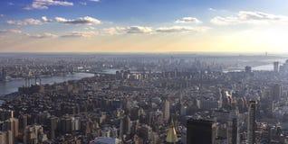 Взгляд над Нью-Йорком Стоковые Изображения RF
