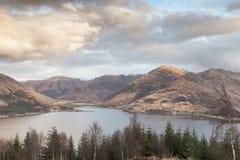 Взгляд над озером Duich в Шотландии Стоковое фото RF