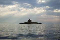 Взгляд на острове в море Стоковые Фотографии RF