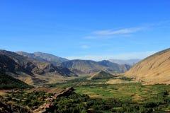 Взгляд над долиной bouguemez в Марокко Стоковые Изображения