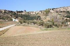 Взгляд на полях равнин Ronda окружающих Стоковое фото RF