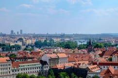 Взгляд над Прагой от сада Rampart - Праги Стоковые Фото