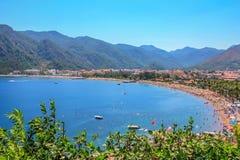 Взгляд над пригородом Icmeler Marmaris стоковое изображение