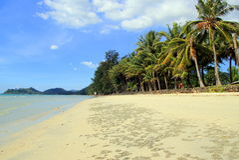 Взгляд на пляже Khlong Phrao Стоковое фото RF