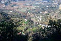 Взгляд на равнинах Ronda Стоковая Фотография