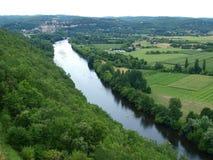 Взгляд на реке Дордоня Стоковые Фотографии RF