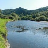Взгляд на реке Semois, бельгийце Арденн Стоковые Изображения